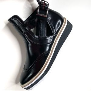 Zara. Spectator Detail Bootie Open Ankle size 6.5